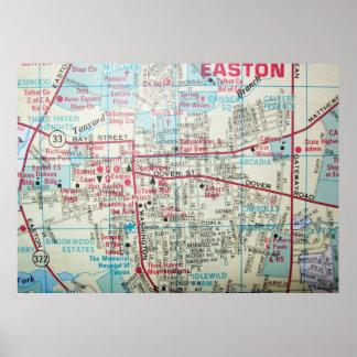 EastonのMDのヴィンテージの地図ポスター ポスター