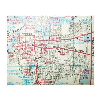 EASTONのMDのヴィンテージの地図 キャンバスプリント
