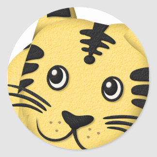 Easygoing tiger_tsz04f ラウンドシール