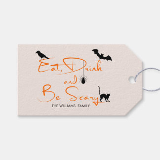 Eat Drink and Be Scary Halloween Gift Tags ギフトタグ
