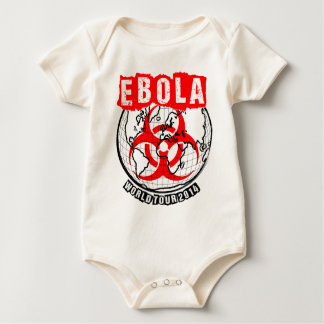 Ebolaの世界旅行2014年 ベビーボディスーツ