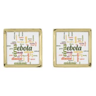 Ebola ゴールド カフスボタン