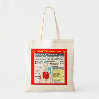 EBOLA: 死に至らしめるウイルスは徴候を知っています トートバッグ