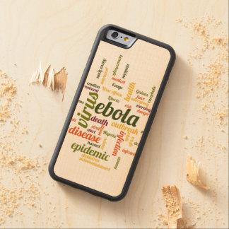 Ebola CarvedメープルiPhone 6バンパーケース
