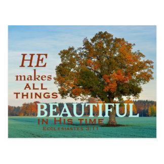 Ecclesiastesの3:11すべての事の美しい郵便はがき ポストカード