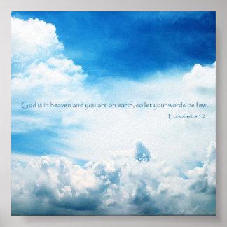Ecclesiastesの5:2 ポスター