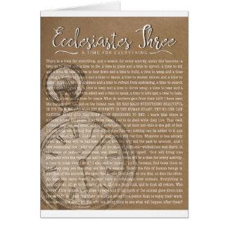 Ecclesiastes 3の宗教勇気付けられる カード