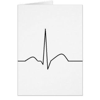 ECG - synusのリズム グリーティングカード