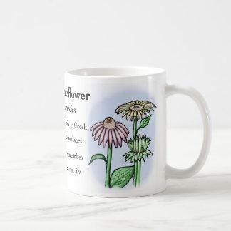 Echinacea - Coneflower -細事 コーヒーマグカップ