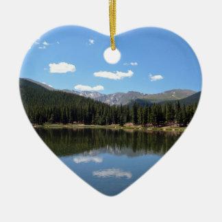 echo湖Mtエバンズコロラド州 セラミックオーナメント