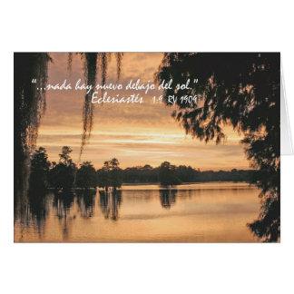 Eclesiastésの1:9 Carta カード