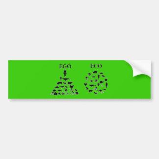 Eco対自我 バンパーステッカー