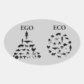 Eco対自我 楕円形シール