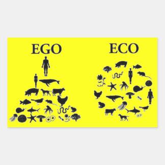 Eco対自我 長方形シール