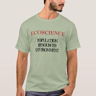 ECOSCIENCEの人口RESOURCESENVIRONMENT Tシャツ