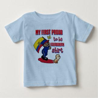 Ecuadorianのワイシャツがあること私の最初誇りを持った ベビーTシャツ