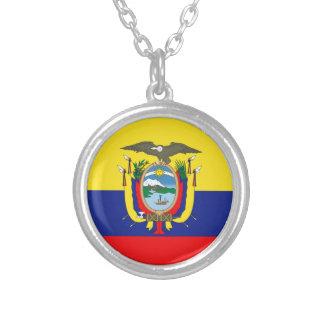 Ecuadorianの旗 シルバープレートネックレス