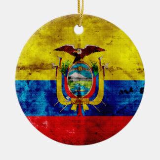 Ecuadorianの旗 セラミックオーナメント