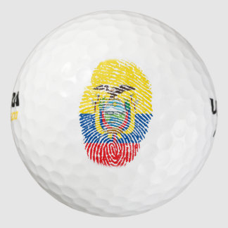 Ecuadorianのtouchの指紋の旗 ゴルフボール