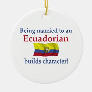 Ecuadorianはキャラクターを造ります セラミックオーナメント