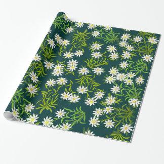 Edelweissのスイスの高山の花の包装紙 ラッピングペーパー