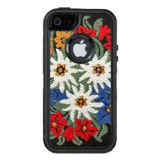 Edelweissのスイスの高山の花 オッターボックスディフェンダーiPhoneケース