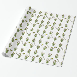 Edelweissの白い花の包装紙 ラッピングペーパー