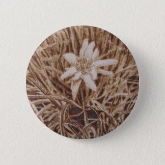 Edelweiss -ステラAlpina 5.7cm 丸型バッジ