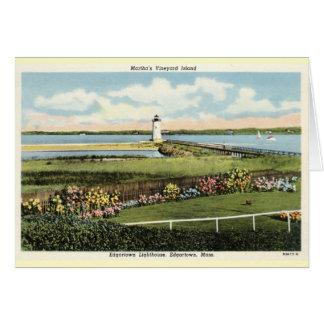 Edgartownの灯台マーサのブドウ園c1925 カード