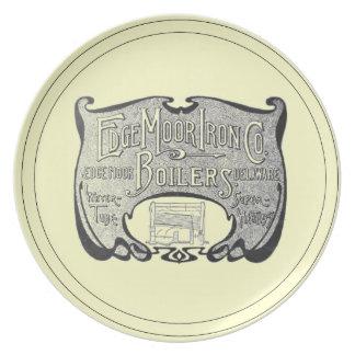 EdgeMoor IronおよびBoiler Company 1903年のディナー用大皿 プレート