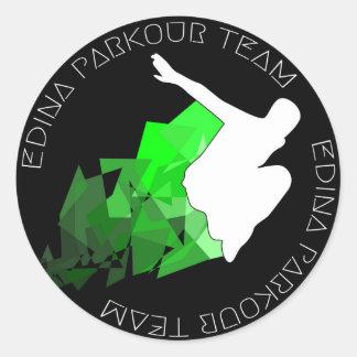 Edina Parkourのチームステッカー2014年 ラウンドシール