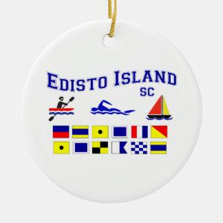 Edistoの島SCのシグナルフラグ セラミックオーナメント