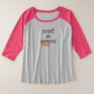 Editor—Overrated or Underrated プラスサイズラグランTシャツ