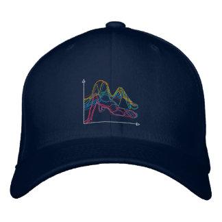 EDIWMの暗い色のグラフィックの帽子 刺繍入りキャップ