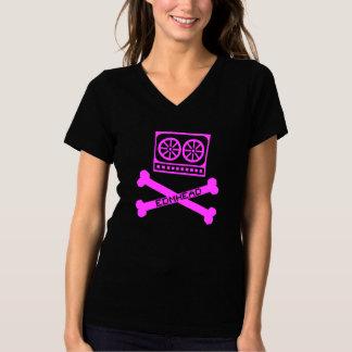EDMのヘッドピンク Tシャツ