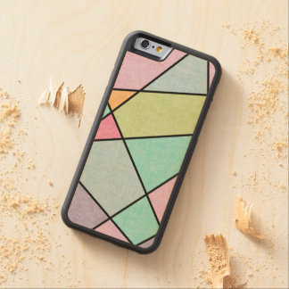 EDrawings38によって幾何学的な曇らされたパステルの抽象芸術 CarvedメープルiPhone 6バンパーケース