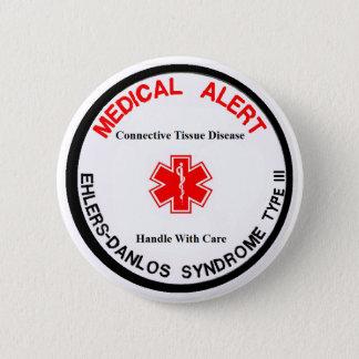 EDSのタイプIIIの医学の注意深いボタン 5.7CM 丸型バッジ