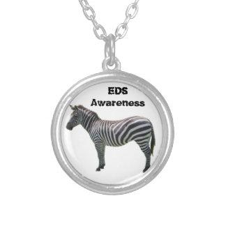 EDSの認識度のシマウマのブレスレット- Ehlers-Danlos シルバープレートネックレス