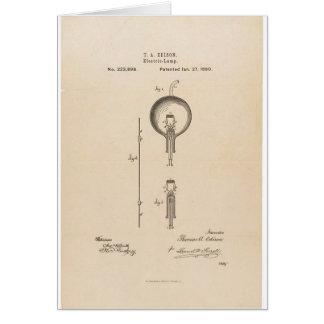 Edsonの電球のパテント カード