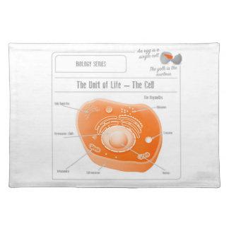 EduPaperプロダクト細胞の布のランチョンマット ランチョンマット