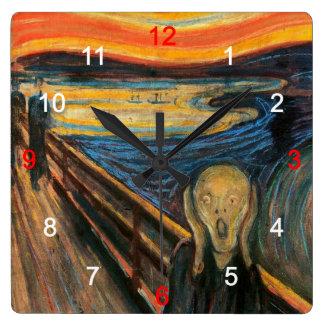 "Edvard Munch , "" The Scream "" 時計"