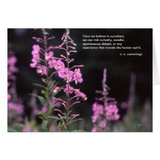 eeのcummingsの感動的な引用文- fireweedのイメージ カード
