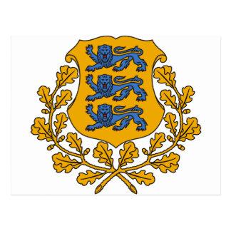 EEエストニアの紋章付き外衣 ポストカード
