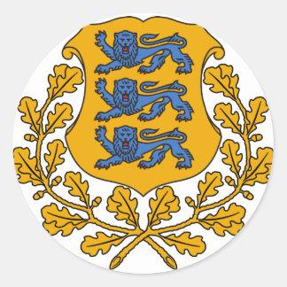 EEエストニアの紋章付き外衣 ラウンドシール