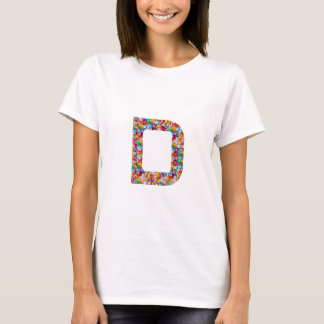 EEEのDDD CCC BBB AAAのアルファアルファベットの宝石 Tシャツ
