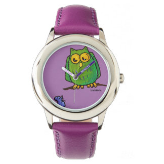EEK! カスタムなステンレス鋼の紫色 腕時計