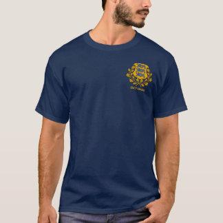 Eesti (エストニア)の旗及びCOA Tシャツ