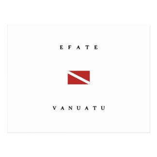 Efateバヌアツのスキューバ飛び込みの旗 ポストカード