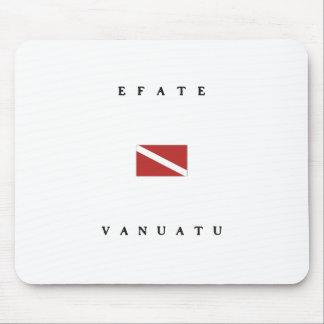 Efateバヌアツのスキューバ飛び込みの旗 マウスパッド