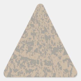 Efectの大理石のグランジな背景 三角形シールステッカー